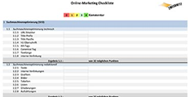 Checkliste Online-Marketing